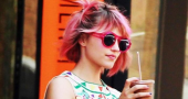 Dianna Agron reveals secret behind pink hair