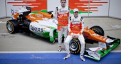 Paul di Resta and Nico Hulkenberg discuss the new Force India