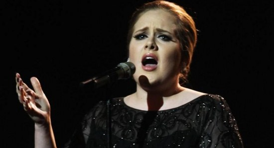 adele with a stunning performance