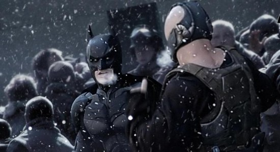 christian bale's batman fights tom hardy's bane