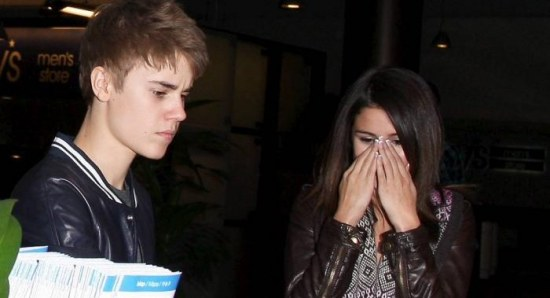 Justin Bieber with ex girlfriend Selena Gomez