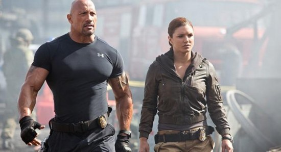 Gina Carano with Dwayne Johnson
