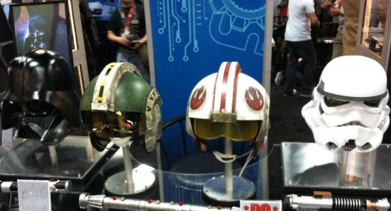 Iconic Star Wars helmets