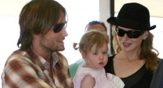 Nicole Kidman with Keith Urban and Sunday Rose