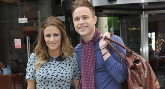 Olly murs with his xtra factor co-host caroline flack