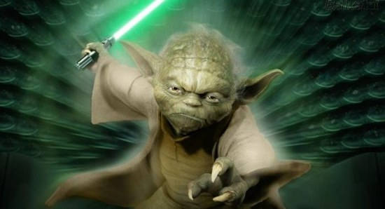 Yoda in Star Wars Episode 3 poster