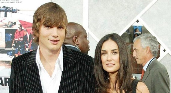 Ashton Kutcher and Demi Moore spotted together