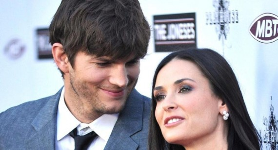 Ashton Kutcher and Demi Moore together again
