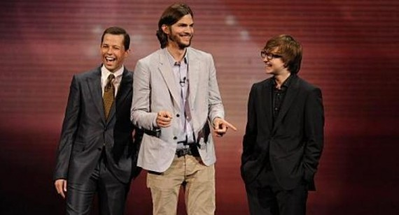 Ashton Kutcher in Two and a Half Men tux