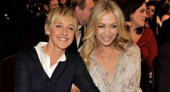 Ellen DeGeneres and wife Portia de Rossi view Brad Pitt's Malibu Mansion