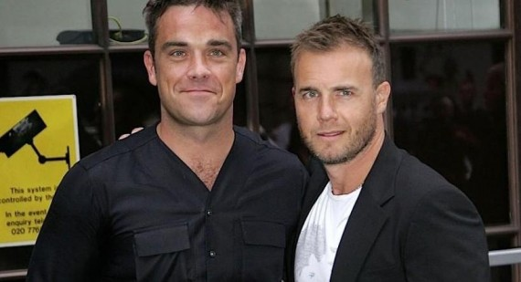 Gary Barlow writes songs for Robbie Williams