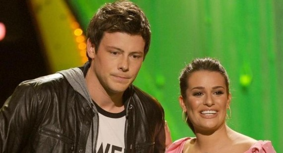 Glee couple Cory Monteith and Lea Michele make each other happy