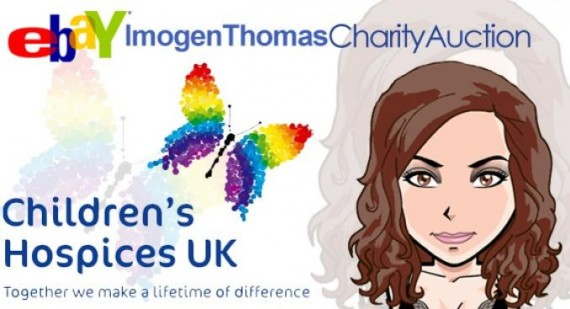Imogen Thomas prepares charity auction