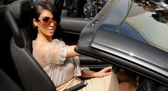 Kim Kardashian borrows Kanye West's $500,000 car