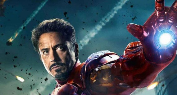 Robert Downey Jr. is Iron Man aka Tony Stark at home