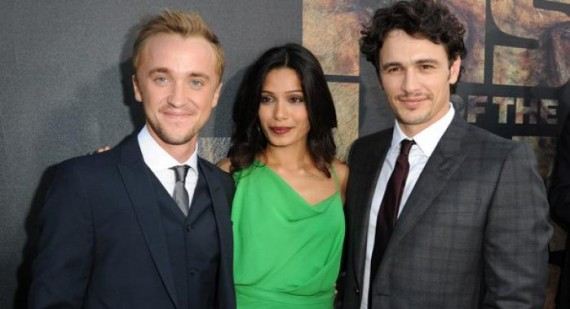 Tom Felton praises James Franco Freida Pinto and Andy Serkis