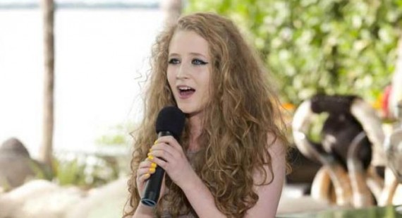 Where is Janet Devlin's alphabet cardigan from?