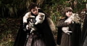 Game Of Thrones Setpics Robb Bran Direwolves