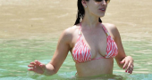 Kelly Brook Bikini Photos At Barbados Beach Beach