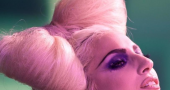 Lady Gaga Funky Bow Hairstyle