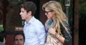 Nick Jonas Delta Goodrem Henry Hat Feet