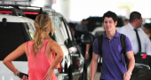 Nick Jonas Kisses Delta Goodrem At Lax Nick Jonas Hair