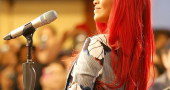 Rihanna Red Hair Bra Jacket Pr Long Hair