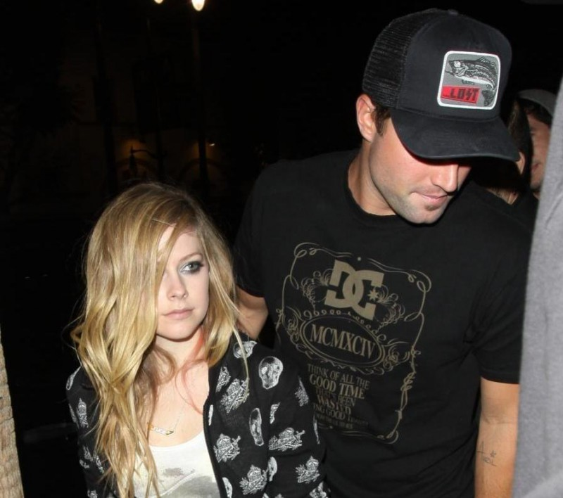 Avril Lavigne With Brody At My Studio Nightclub