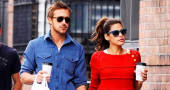 Eva Mendes and Ryan Gosling  in 'no rush' to move in together