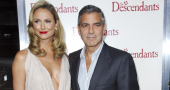 George Clooney and Stacy Keibler prove breakup rumors wrong as they step out in Berlin