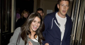 Glee's Lea Michele wears Cory Monteith necklace