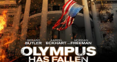 New character poster of Aaron Eckhart in Olympus Has Fallen