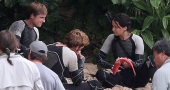 Sam Claflin broke his hand during 'Catching Fire' filming