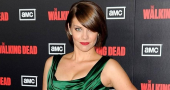 Walking Dead's Lauren Cohan stuns in black dress at AMFAR gala