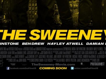 First The Sweeney poster starring Ray Winstone, Hayley Atwell and Plan B
