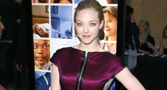 Amanda Seyfried poses for a press photo