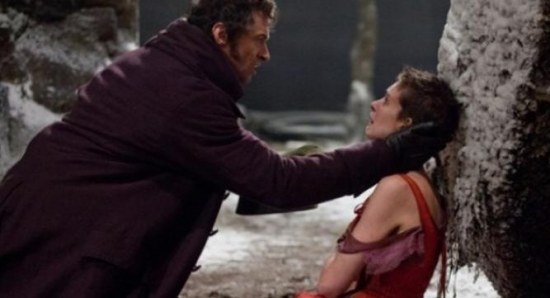 Hugh Jackman and Anne Hathaway in 'Les Miserables'