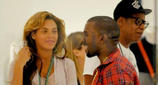 Beyonce and Jay-Z with Kanye West