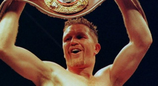 Steve Collins with one of his belts