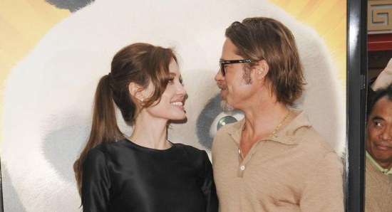Brad Pitt and Angelina Jolie at the premiere of Kung Fu Panda