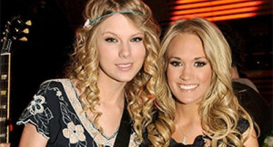 Carrie Underwood with Taylor Swift