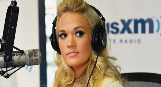 Carrie Underwood on the radio