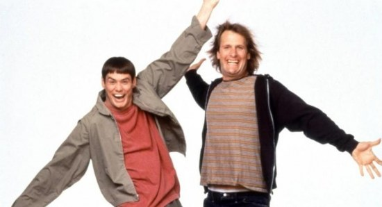 Jim Carrey and Jeff Daniels in Dumb and Dumber