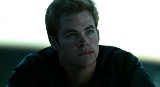 Chris Pine as Kirk in Star Trek
