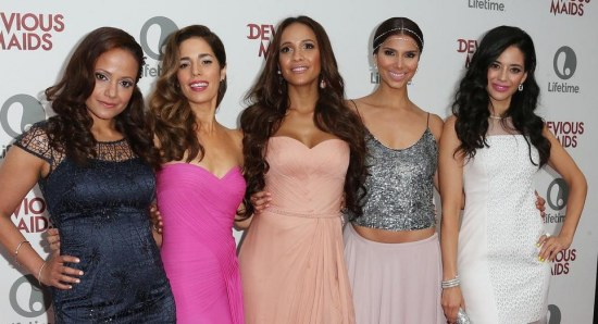 Dania Ramirez with the cast of Devious Maids