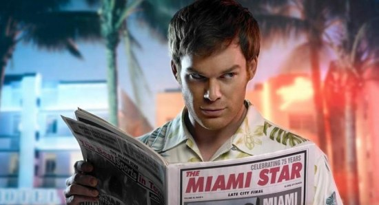 Dexter poster shows Michael C Hall as the killer
