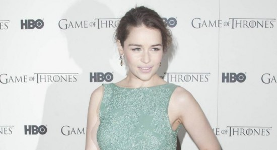 Emilia Clarke promoting 'Game of Thrones'