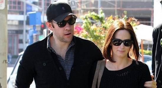 Emily Blunt out with John Krasinski
