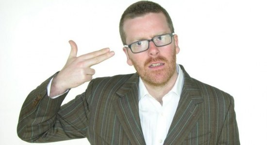 Frankie Boyle showing what many celebs would like to do