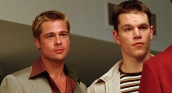 Brad Pitt and Matt Damon in Ocean's Eleven